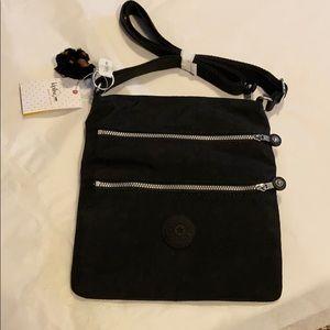 kipling black cross body purse